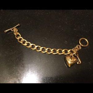 Juicy Couture Gold tone Charm Bracelet